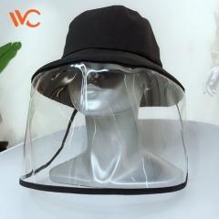 韩国vvc天使防护帽女全脸隔离面罩防飞沫渔夫帽可拆卸防护小黑帽