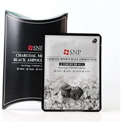 韩国SNP 黑炭礦物保濕安瓶面膜 (一盒10片)